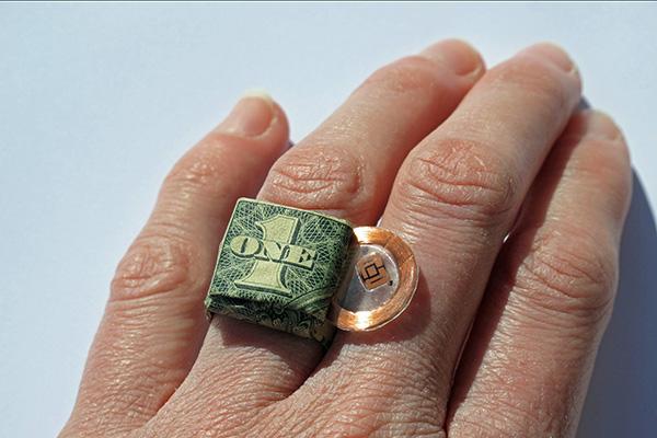CU High five dollar ring